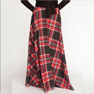 Agnes & Dora holiday ball skirt NWT Sz M red black